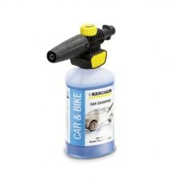 Kit de detergente ultraespumante y boquilla aplicación de espuma con regulador, para limpiadora de alta presión