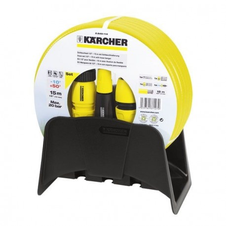 Set manguera con lanza regulable y soporte basic 15m.-KARCHER