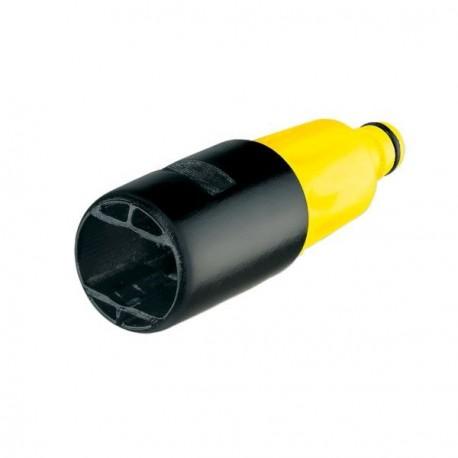 Adaptador de conexión para mangueras de riego